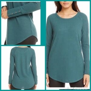Chaser Ladies' Long Sleeve Waffle Thermal Top NWT